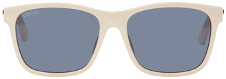 Gucci Beige Square Sunglasses
