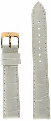 Tissot Leather Calfskin White Watch Strap 16mm Width (Model: T600041089)
