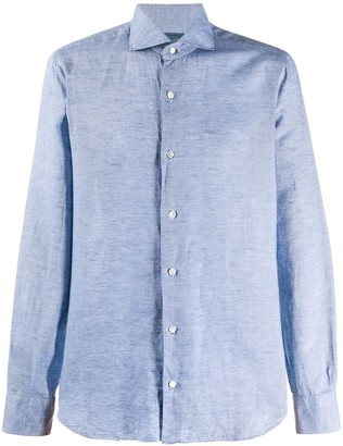 Barba Marl Cotton Linen Blend Shirt