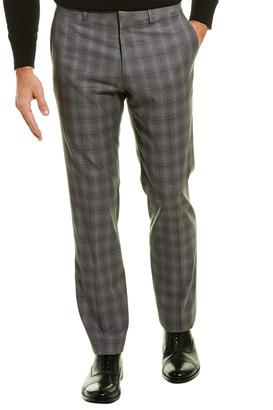 Theory Marlo Tonal Plaid Wool Trouser