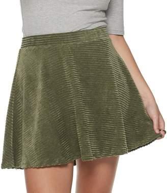 So Juniors' SO Corded Velour Skater Skirt