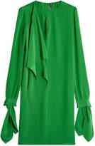Calvin Klein Draped Silk Dress