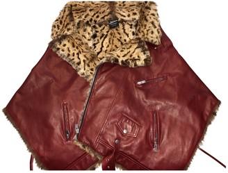 Jean Paul Gaultier Burgundy Rabbit Leather jackets