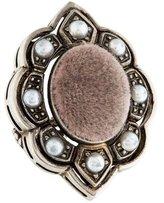 Gucci Velvet & Pearl Cocktail Ring