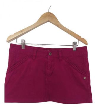 Diesel Purple Cotton Skirt for Women