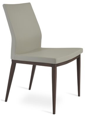 sohoConcept Pasha Upholstered Parsons Chair Upholstery Color: Black