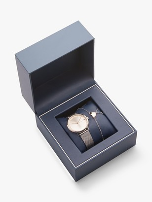 Tommy Hilfiger 2770053 Women's Pippa Bracelet Strap Watch and Bracelet Gift Set, Silver/Gold