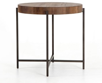 Pottery Barn Fargo Round Reclaimed Wood Counter Height Table