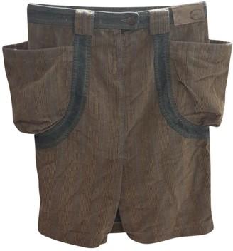 Just Cavalli Brown Velvet Skirt for Women