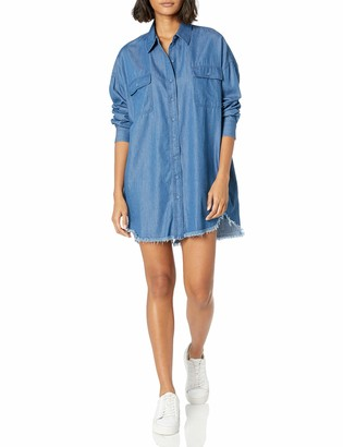 KENDALL + KYLIE Women's Frayed Chambray Dress