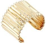 Alexis Bittar Crystal Studded Pleated Cuff Bracelet Bracelet