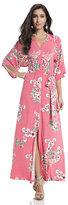 New York & Co. Kimono Maxi Dress - Pink Floral