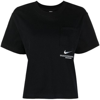 Nike Logo-Plaque Cotton T-Shirt