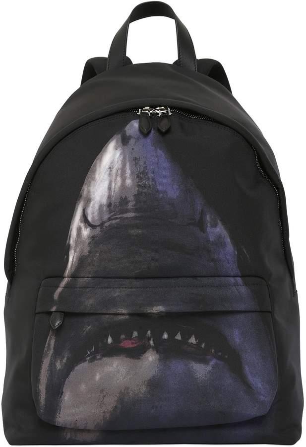 Givenchy Shark Printed Nylon Cordura Backpack