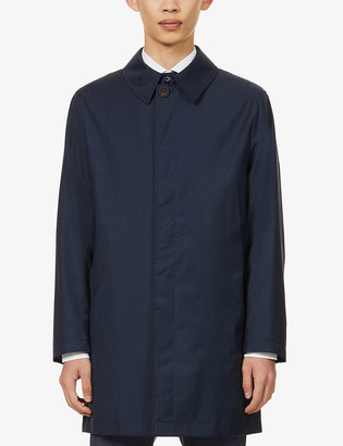Canali Single-breasted woven coat