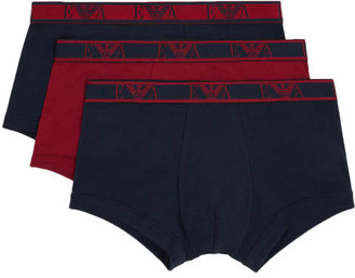 Emporio Armani Monogram Stretch Cotton Trunk 3-Pack