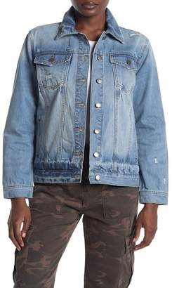 Velvet Heart Margarita Distressed Denim Jacket
