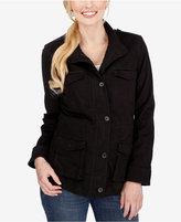 Lucky Brand High-Collar Zippered Jacket