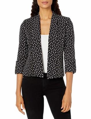 Kasper Women's City Blocks Print Shawl Collar Open Front Jacket