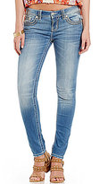 Miss Me Stitch Pocket Woven Stretch Skinny Jeans