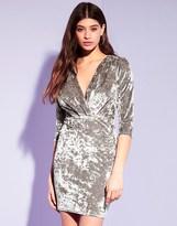 Lipsy Long Sleeve Velvet Bodycon Dress
