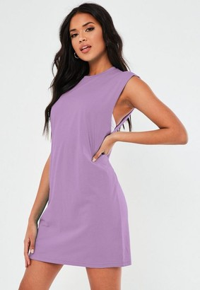 Missguided Lilac Basic Sleeveless Tank Dress