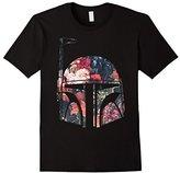 Star Wars Boba Fett Flower Print Helmet Graphic T-Shirt