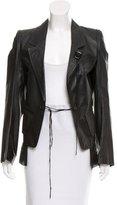 Ann Demeulemeester Leather Notch-Lapel Jacket