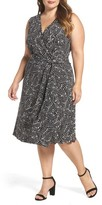 Vince Camuto Plus Size Women's Modern Mosaic Wrap Dress