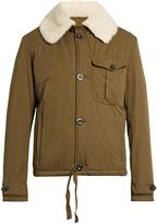 Loewe Shearling-collar cotton jacket