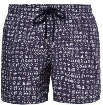 Vilebrequin Moorea Turtle Print Swim Shorts - Mens - Navy White