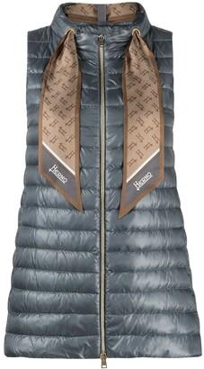 Herno Scarf Neck Gilet Jacket