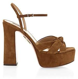 Aquazzura Women's Baba Suede Platform Sandals