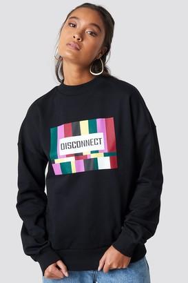NA-KD Disconnect Sweatshirt Black