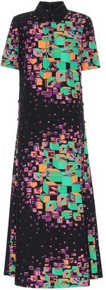 Gucci Printed silk-blend dress