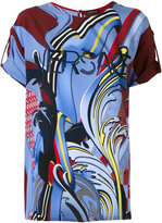 Versace paisley print T-shirt - women - Silk - 40