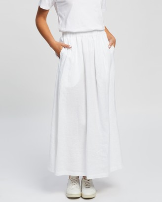 Assembly Label - Women's White Maxi skirts - Noma Linen Skirt - Size 6 at The Iconic