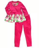 First Impressions Baby Set, Baby Girls 2-Piece Rose Dress and Leggings
