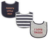 Luvable Friends Gray 'Daddy's Little Man' Drooler Bib Set