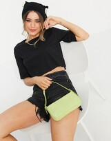 Thumbnail for your product : Monki Lea organic cotton cropped boxy t-shirt in black