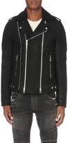 Balmain Biker Waxed-cotton Jacket