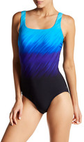 Reebok Windblown Print One-Piece Swimsuit