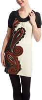 Aryeh Black & White Paisley A-Line Dress