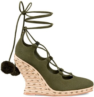 Tory Burch Heather Wedge Lace-Up Espadrille