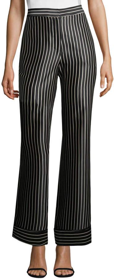 Yigal Azrouel Women's Stripe Silk Trousers