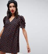 Reclaimed Vintage Inspired V Neck Dress In Floral
