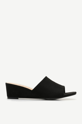 Ardene Faux Suede Wedge Mules