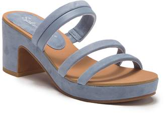 Splendid Ted Cork Banded Heel Sandal