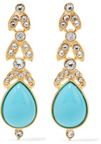 Ben-Amun Gold-Plated, Crystal And Stone Earrings