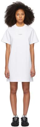 Acne Studios White Reverse Logo T-Shirt Dress